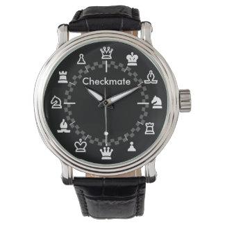 Reloj del ajedrez del jaque mate - tablero de