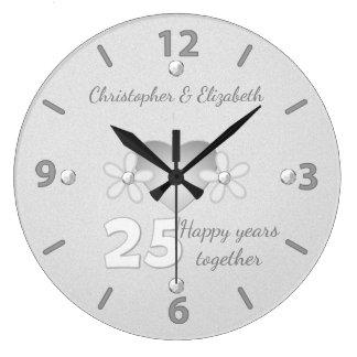 Reloj del aniversario de bodas de plata