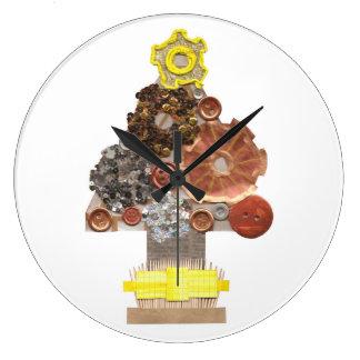 Reloj del árbol de navidad de Steampunk