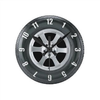 Reloj del arte de los camioneros del neumático del