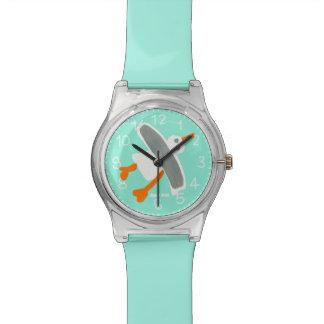 Reloj del arte del verde de mar: Gaviota de