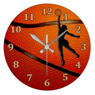 Reloj del baloncesto de los chicas, dormitorio del