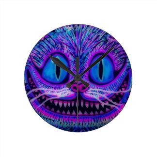 """¡""""RELOJ del CAT de CHESIRE"""" por CAOS DE ENCARGO! Reloj Redondo Mediano"""