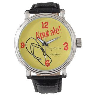 reloj del chancla del famosa del la si usted es