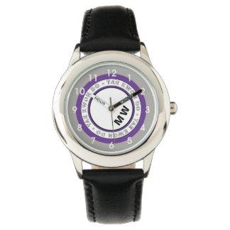 Reloj del círculo del texto del Taekwondo del