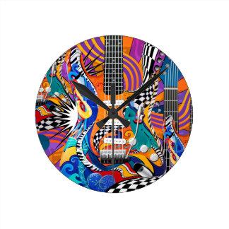 Reloj del color del músico del arte pop del reloj