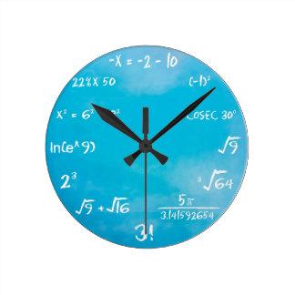 Reloj del concurso de la matemáticas - azul del