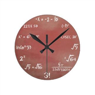 Reloj del concurso de la matemáticas - medio de