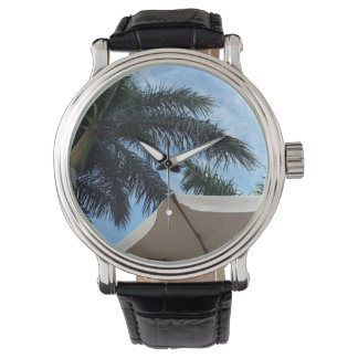 Reloj del cuero de la palmera de Tenerife