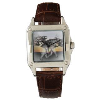 Reloj del cuero de las señoras Brown de la danza
