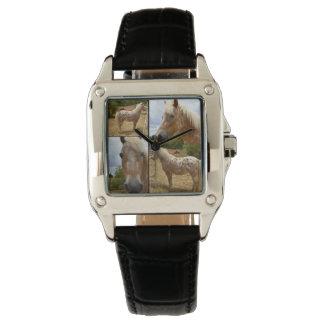 Reloj del cuero de las señoras del collage de la