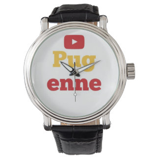 Reloj del cuero de Pugenne