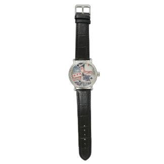 """Reloj del cuero del vintage del """"póker"""""""