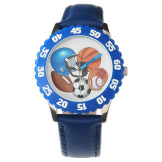 reloj del deporte del muchacho