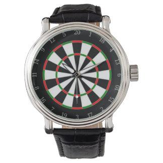Reloj del dial del tablero de dardo