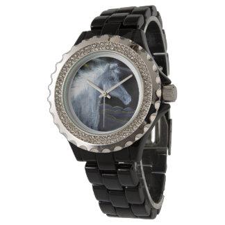 Reloj del diamante artificial de las mujeres del