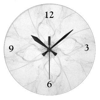Reloj del diseño floral de la plantilla