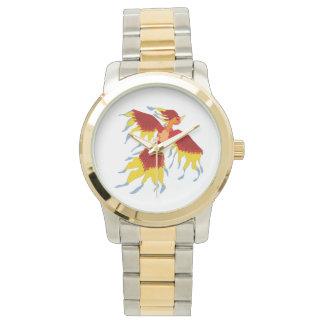 Reloj del Dos-Tono del pájaro de Phoenix