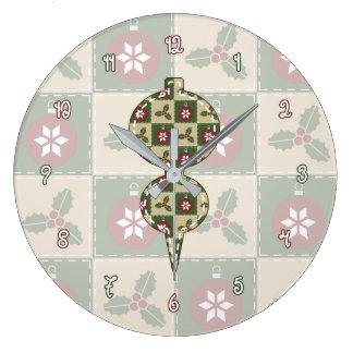 Reloj del edredón del navidad