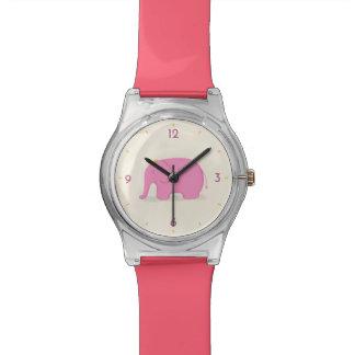 Reloj del elefante rosado de la reina