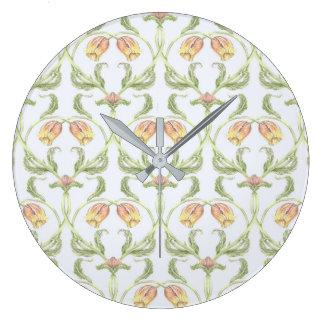 Reloj del enrejado del tulipán