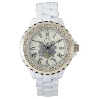 Reloj del esmalte del diamante artificial
