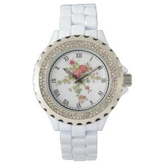 Reloj del esmalte del diamante artificial de