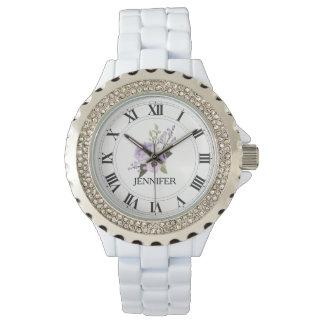 Reloj del esmalte del diamante artificial de las