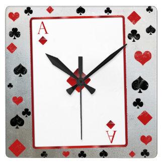 Reloj del estilo del casino/de vegas