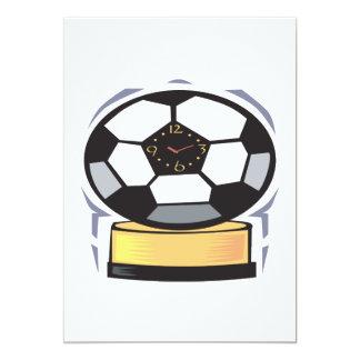 Reloj del fútbol invitacion personalizada