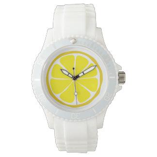 Reloj del limón de la fruta cítrica del verano