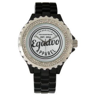 Reloj del logotipo de Eqadvo