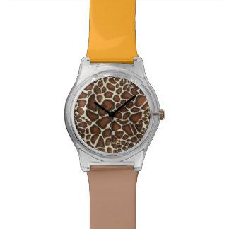 Reloj del modelo de la jirafa