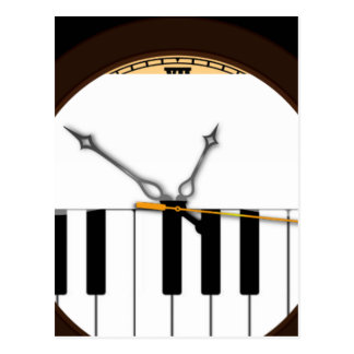 Reloj del Musical de Kaleidescope Postal