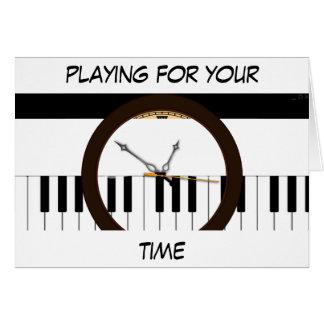 Reloj del Musical de Kaleidescope Tarjeta De Felicitación