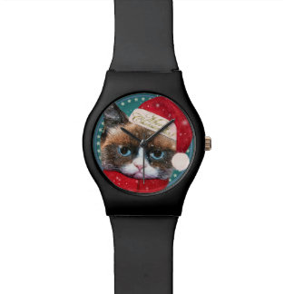 Reloj del navidad May28th del gato de Meowy Santa