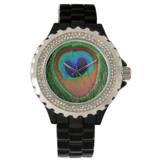 Reloj del ojo del pavo real