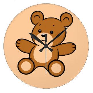 Reloj del oso de peluche del dibujo animado