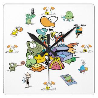 Reloj del personaje de dibujos animados del pantan