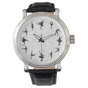 Reloj del profesor de la danza de la bailarina de