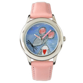 Reloj del ratón del amor
