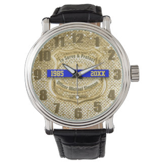 Reloj del retiro del oficial de policía