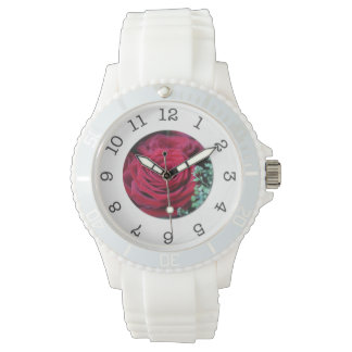 reloj del rosa rojo