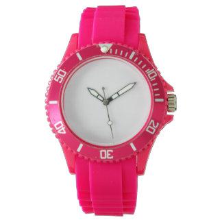 Reloj del silicio del rosa del deporte de las
