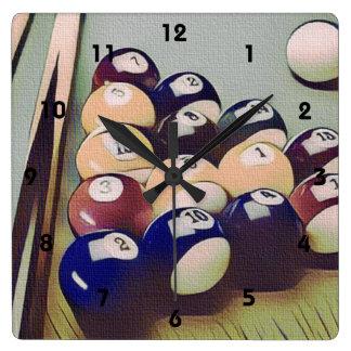 Reloj del sitio de juegos de los billares de la