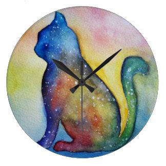 Reloj del soñador del gato