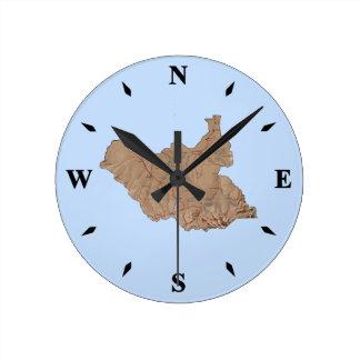Reloj del sur del mapa de Sudán