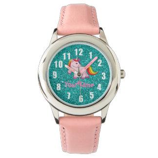 Reloj del unicornio con su nombre