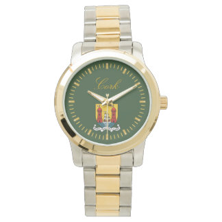 Reloj del verde del corcho del condado