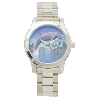 Reloj Delfín en las zonas tropicales - 3D rinden